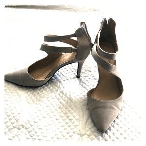 Gray Suede Chinese Laundry Heels